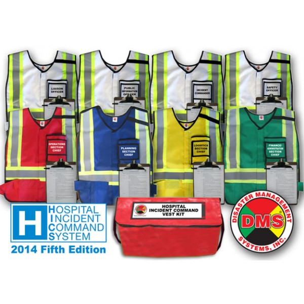 HICS 2014 Command Vest Kit - 8 Pos for Small Hospitals