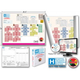 HICS 2014 Command Board Dry Erase 76 Pos for Large Hospitals