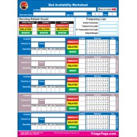 EMT3® Bed Availability Worksheet - Refill Pack