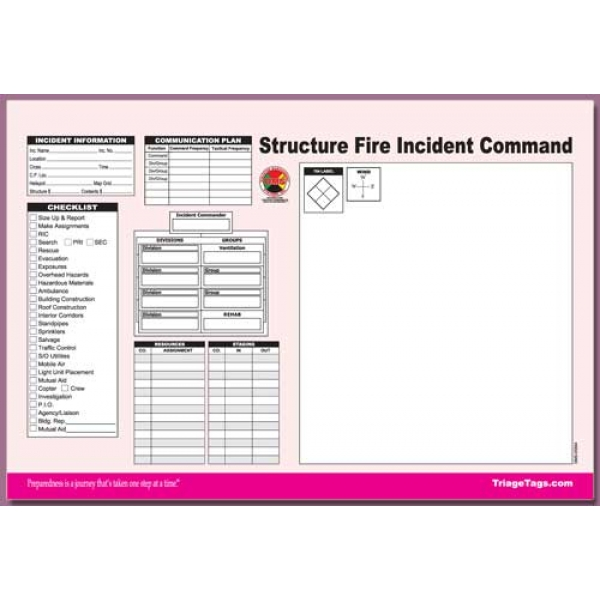 Incident Command Worksheet Multi-Pack Refill
