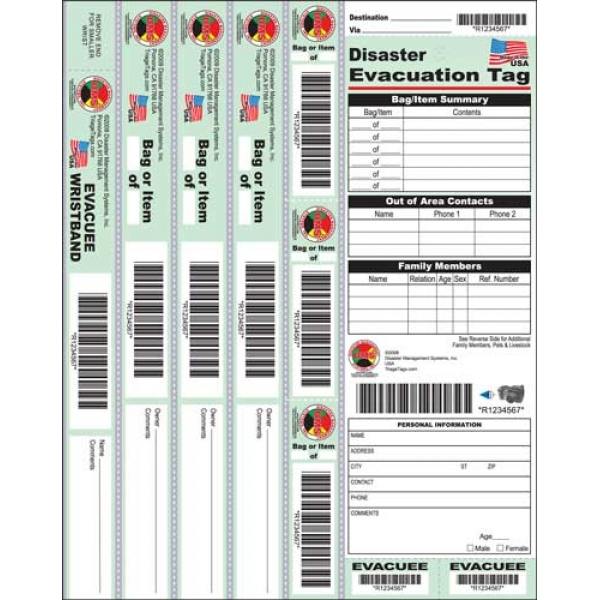 Disaster Evacuation Tag