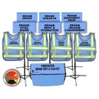 Fire REHAB Area Vest and Flag Kit