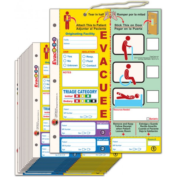 Evac123 Patient Evacuation Tag