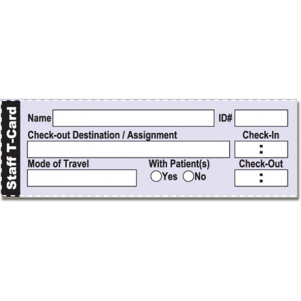 Staff T-Card System Refill