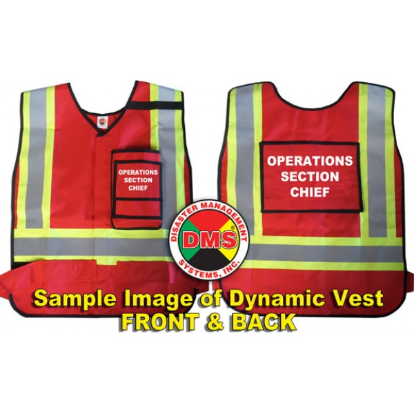 HICS 2014 Command Vest Kit - 26 Position for Medium Hospitals