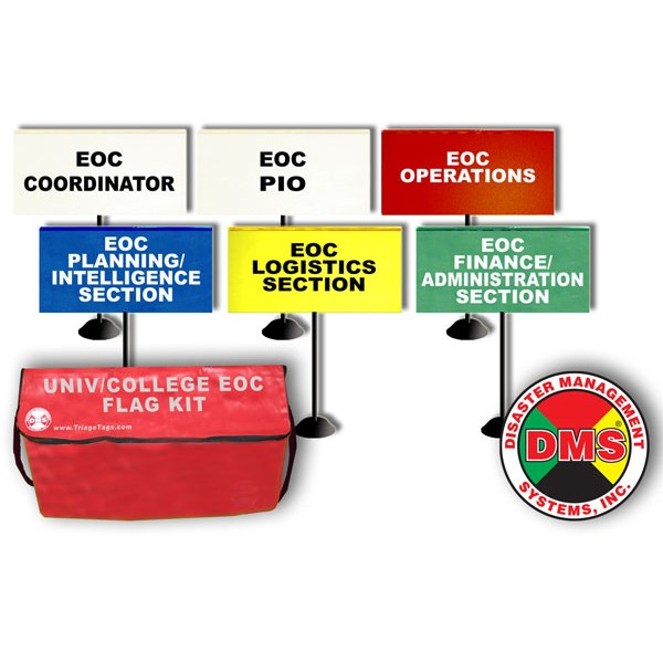 EOC Tabletop Flag Kit for Universities / Colleges