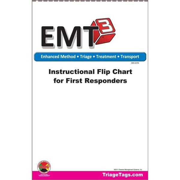 EMT3® Instructional Flip Chart for First Responders