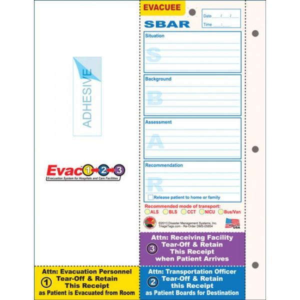 Evac123 Patient Evacuation Tag*