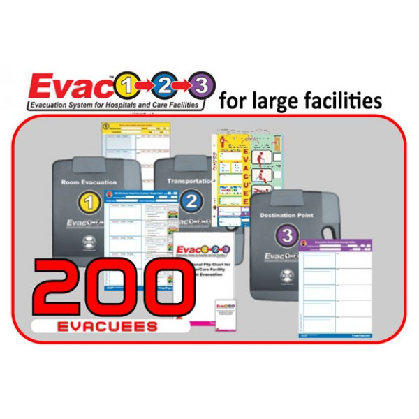 Evac123® Large Hospital/Facility Evacuation 200 Package