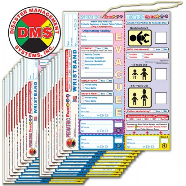 Evac123 Pediatric Evacuation Tag