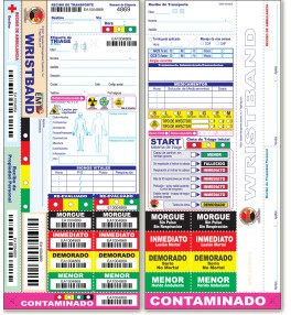 All Risk® Triage Tags with Patient Wristband - Español