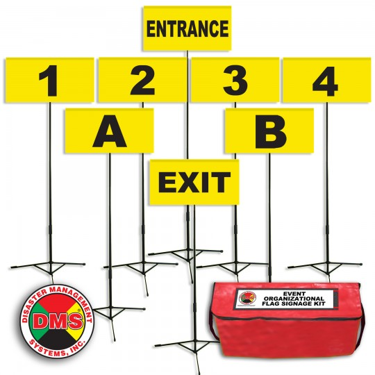 Event Organizational Flag Signage Kit