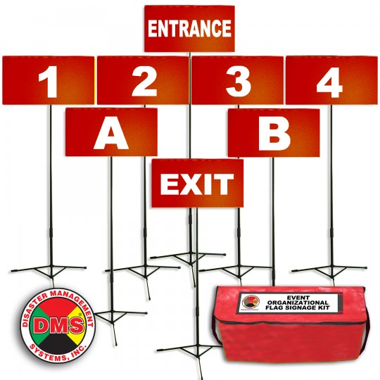 Event Organizational Flag Signage Kit