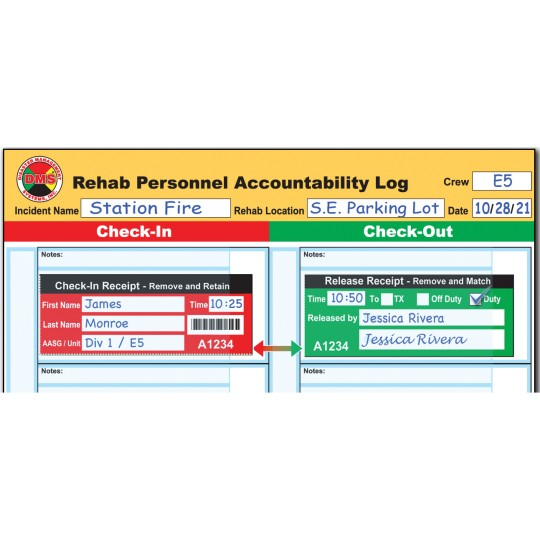Fire REHAB Accountability System + Vest and Flag Kit
