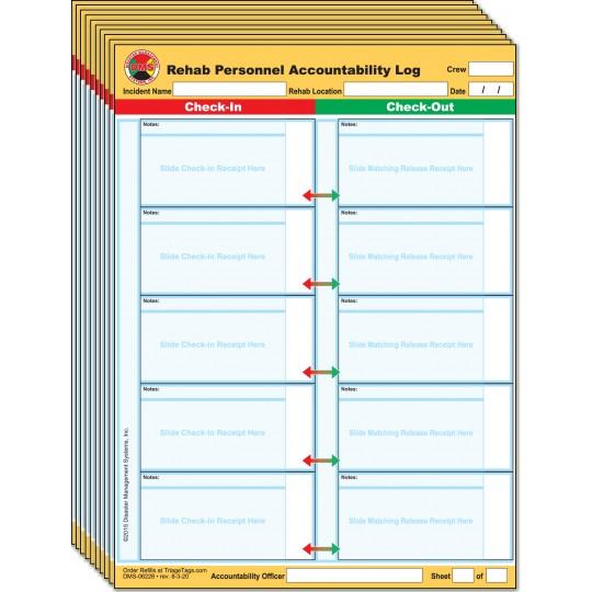 Fire REHAB Personnel Accountability Log Receipt Holder