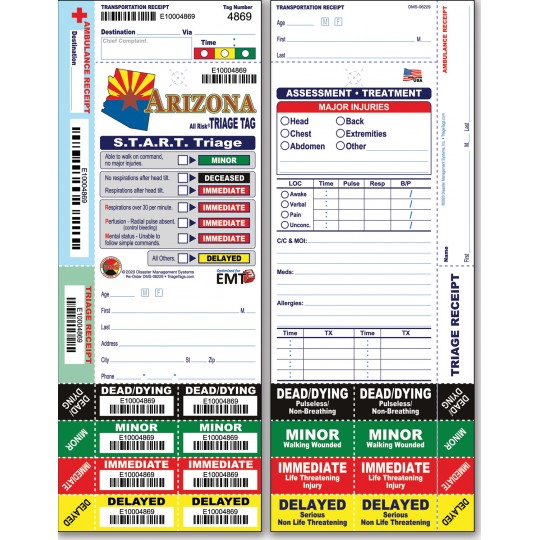 All Risk® Triage Tags - Arizona Version
