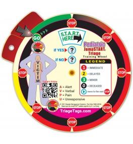 Pediatric JumpSTART Triage Training Wheel