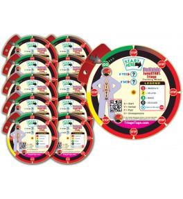 Pediatric JumpSTART Triage Training Wheel 10 Pack