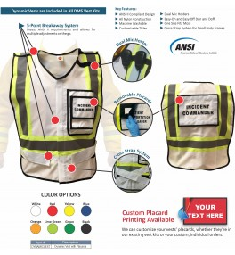 HICS 2014 Command Vest Kit - 8 Position for Small Hospitals