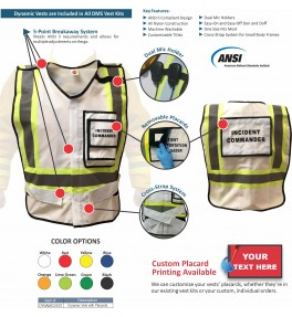 HICS 2014 Command Vest Kit - 76 Position for Large Hospitals