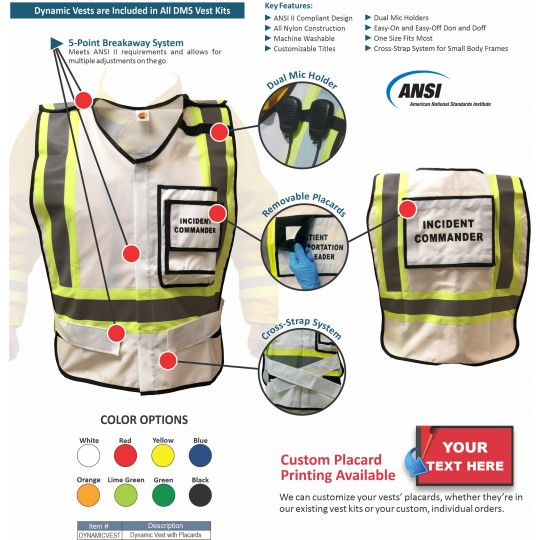 EOC Vest Kit for Large Local Government - 45 Position