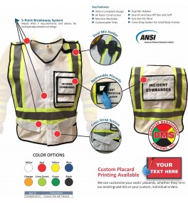 EOC Flag & Vest Kit for Small Towns and Private Industries