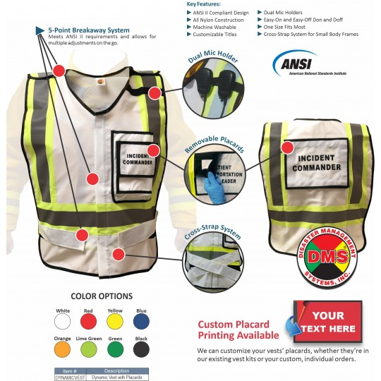EOC Vest Kit for Small Local Government - 31 Position