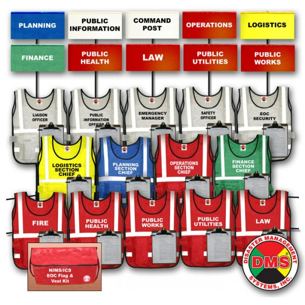 EOC Flag & Vest Kit for Small Towns and Private Industry