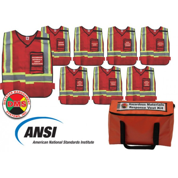 Hazardous Materials Response Organization Vest Kit