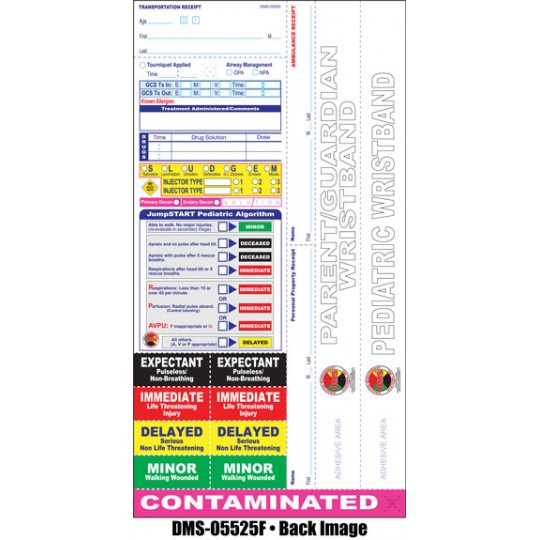 All Risk® Pediatric Triage Tags with Dual Wristbands