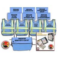 Fire REHAB Accountability System + REHAB Area Vest and Flag Kit
