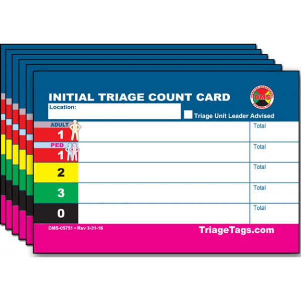 EMT3™ Initial Triaged Patient Count Card Refill Pack