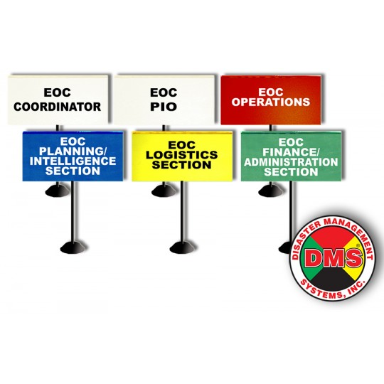 EOC Tabletop Flag Kit for Small Local Government - 6 Flags