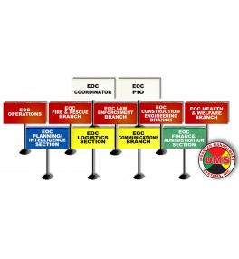 EOC Tabletop Flag Kit for Large Local Government - 11 Flags