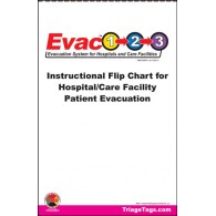 Evac123® Instructional Flip Chart Hospital_Skilled Nursing Facility Evacuation
