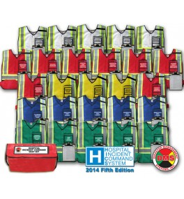 HICS 2014 Command Vest Kit - 26 Position for Medium Hospitals