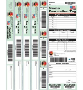 Disaster Evacuation Tag