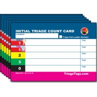 EMT3® Initial Triage Patient Count Card - Refill Pack
