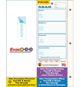 Evac123® Patient Evacuation Tag