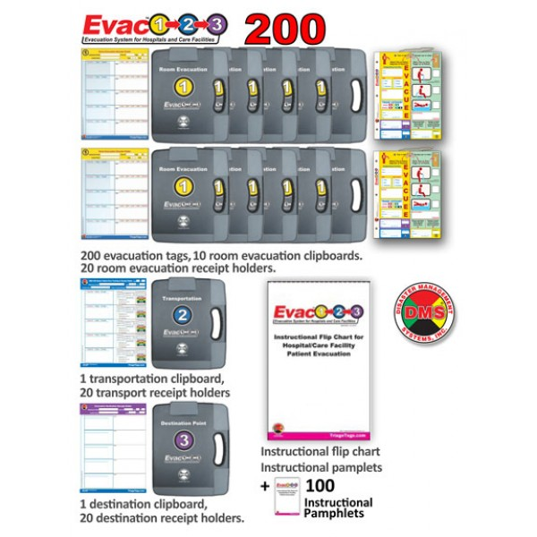 Evac123® Large Skilled Nursing Facility Evacuation 200 Package (SNF)