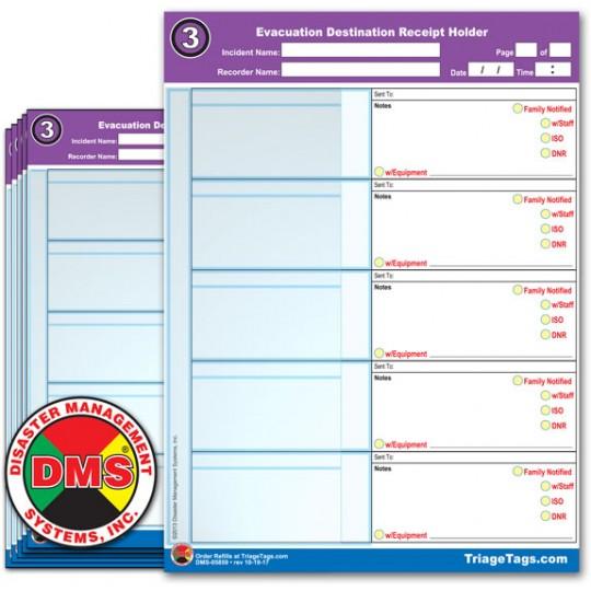 Evac123® Destination Step 3 Receipt Holder Refill Pack