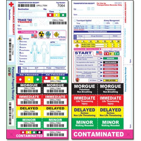 All Risk® Triage Training Tag