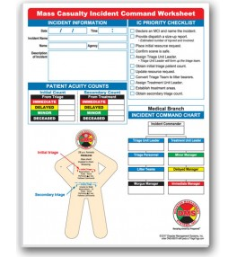 Mass Casualty Incident Command Worksheet Pads