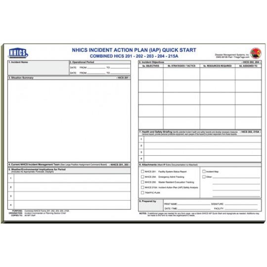 NHICS Nursing Home Incident Command Worksheet Kit