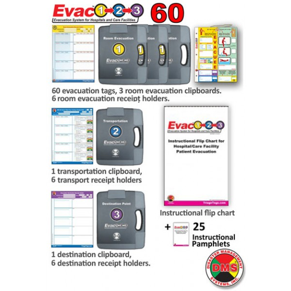 Evac123® Small Hospital/Facility Evacuation 60 Package