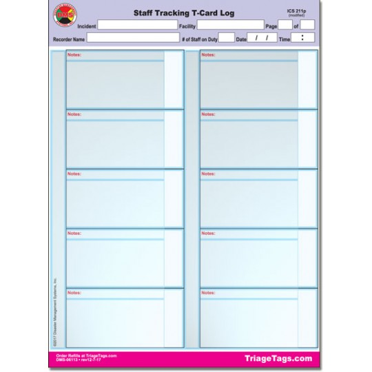 Staff Tracking System Refill